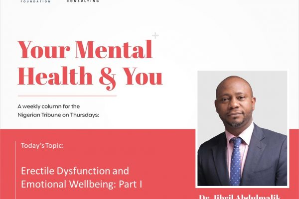 Erectile Dysfunction and Emotional Well Being: Part 1